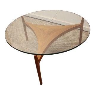 Danish Modern Seth Ellekaer Reverse Trefoil Table