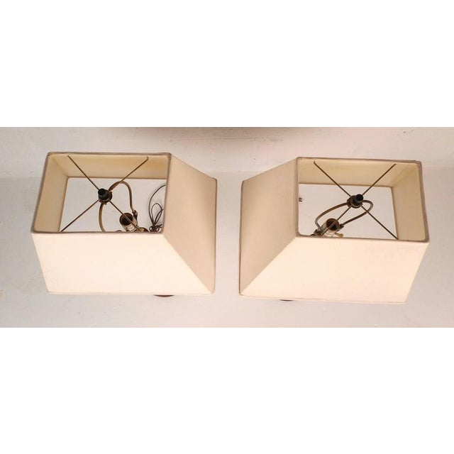Mid-Century Modern Teak Table Lamps - A Pair - Image 4 of 6