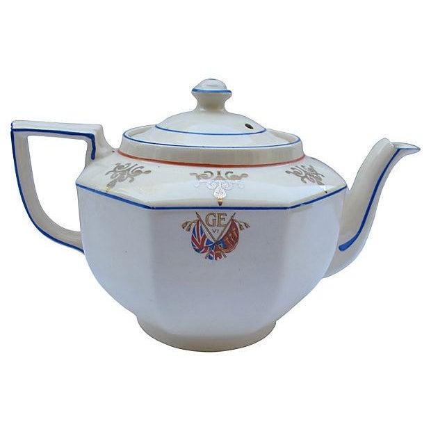 1937 King George VI Coronation Tea Pot - Image 4 of 5