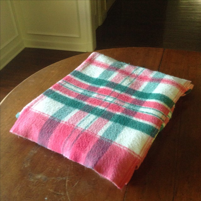 Vintage Plaid Picnic/Gameday Blanket - Image 3 of 11