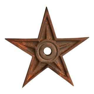 Rustic Metal Stars - A Pair