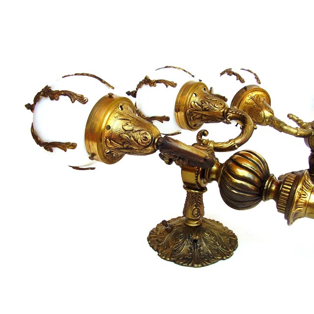 Antique Wall Sconce French Lamps Bronze - A Pair - Image 3 of 5