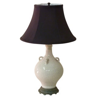 Boch Frs. Crackle Glaze Lamp