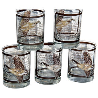 Georges Briard Canadian Geese Tumblers - Set of 5