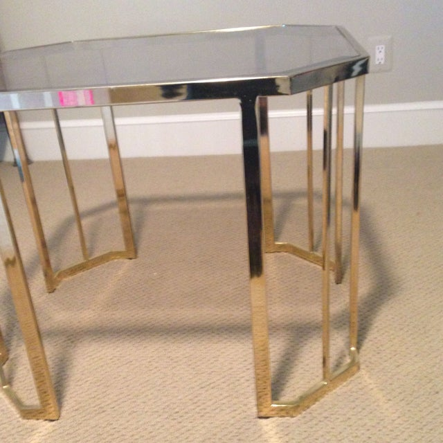 Glass & Brass Side Table - Image 5 of 7