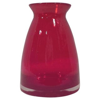 Red Art Glass Vase