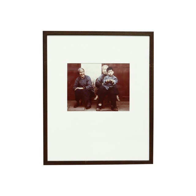 Image of Vintage Matted and Framed Family Photograph