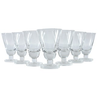 Heavy Footed French Shot Glasses - Set of 7