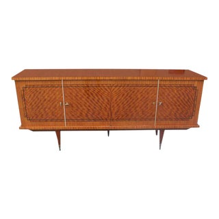 Stunning French Art Deco Exotic Mahogany Sideboard / Credenza / Bar, circa 1940s