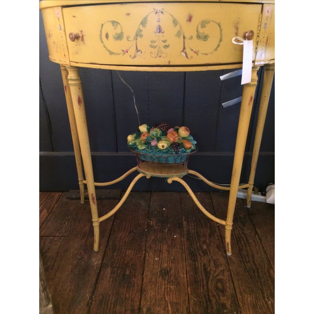 Hand-Painted French Demilune Console - Image 8 of 8