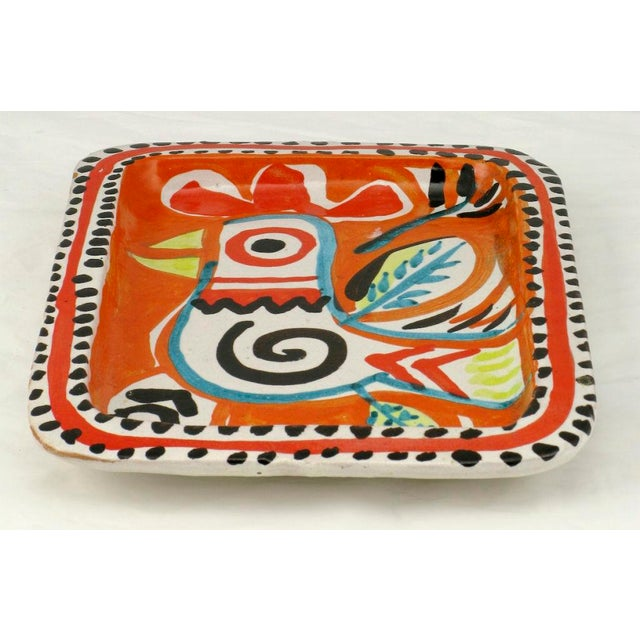 Colorful Italian Majolica Tray Made For Joseph Magnin Co. - Image 2 of 4