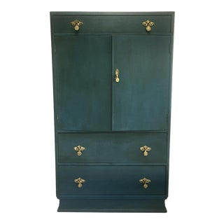 Antique Allen & Appleyard Blue Chalk Paint Cabinet