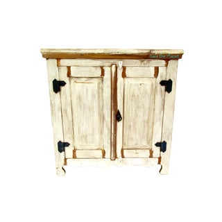 Antique Two Door Cabinet Eco-Friendly Reclaimed Solid Wood