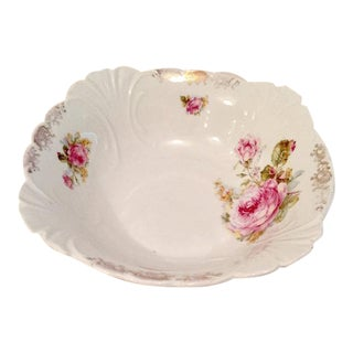 Antique Pink Rose Serving Bowl