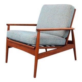 Vintage Mid Century Danish Modern Teak Lounge Chair