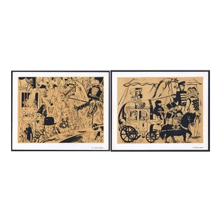 1944 Lithographs - Circus: # 34 & 73 - A Pair