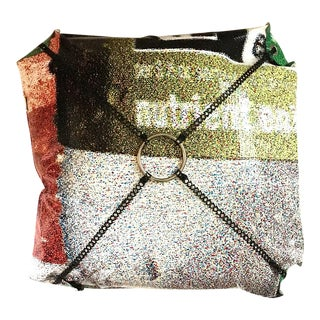 Recycled Billboard Vinyl Pillow