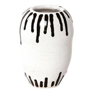 White Ceramic Drip Vase