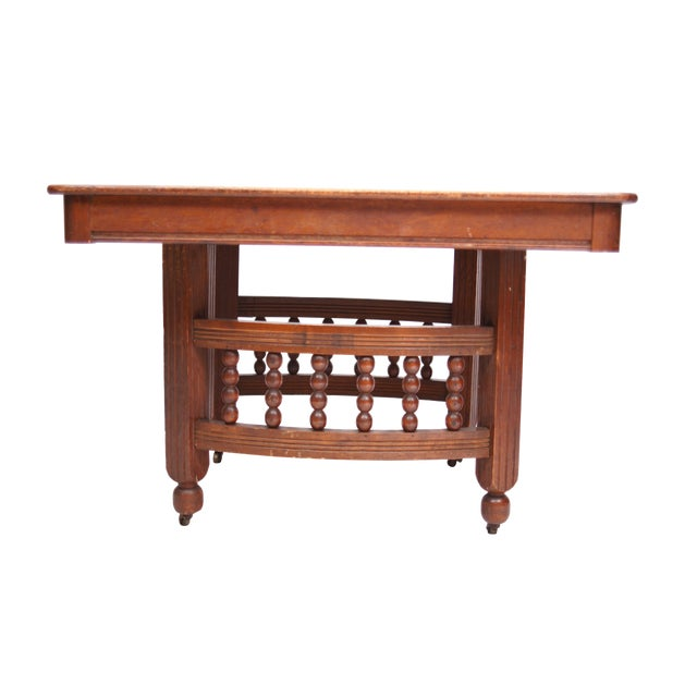 Antique Stick & Ball Dining Table - Image 1 of 7