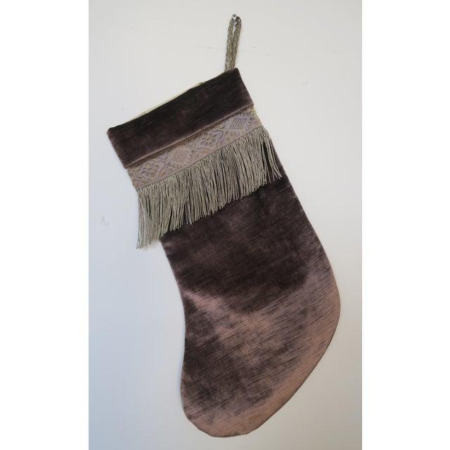 Handmade Velvet Christmas Stocking - Image 3 of 3