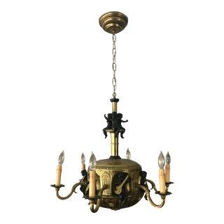 Antique Gilt Bronze Chandelier