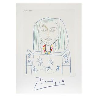 Pablo Picasso - Portrait De Femme Au Collier Litho
