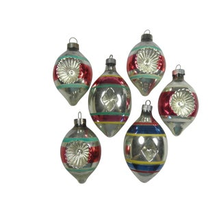 Double Indent Teardrop Ornaments - Set of 6