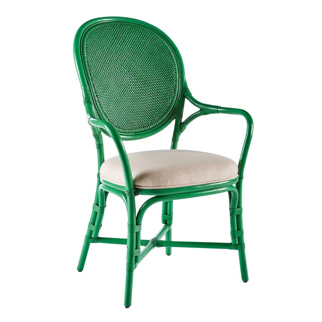 Selamat Designs Parsley Dahlia Arm Chairs - A Pair - Image 2 of 6
