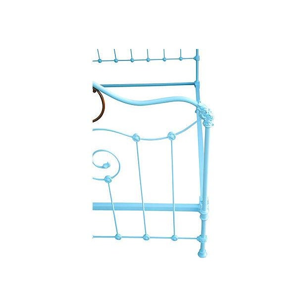 Antique Wrought Iron Bed Frame - A Full - Image 3 of 7