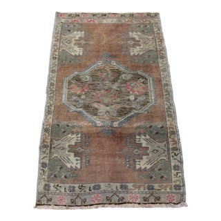 Vintage Turkish Anatolian Rug - 1′11″ × 3′4″