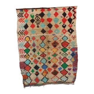 "Vintage Azilal Moroccan Rug - 4'6"" x 5'11"""