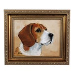 Image of Beagle Dog Oil on Canvas Portrait Painting