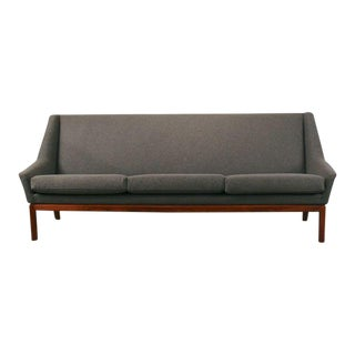 Vintage Danish 3-Seat Wool Sofa