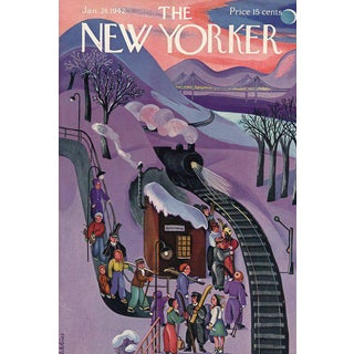 1942 New Yorker Cover - Skiing