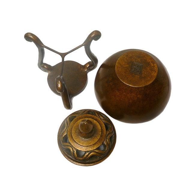 Oriental Chinese Handmade Fine Bronze Incense Burn - Image 3 of 4