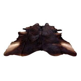 """Genuine Cowhide Rug Chocolate Brown 6'5""""x7'1"""""""