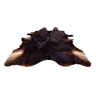 "Genuine Cowhide Rug Chocolate Brown 6'5""x7'1"""