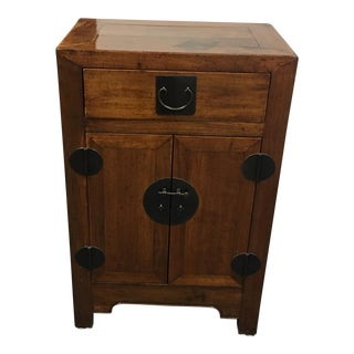 Gumps Vintage Wood Tansu with Metal Fittings