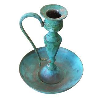 Vintage Bronze Candle Holder II
