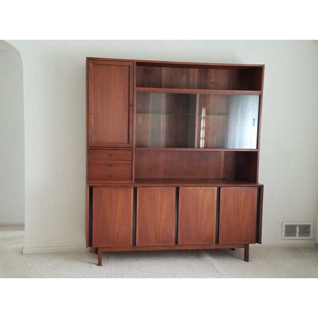Mid-Century Dillingham Wall Unit with Shelving - Image 2 of 9