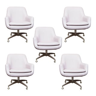 Mid-Century Modern Pod Swivel Chairs - Set of 5