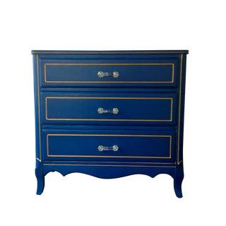 Vintage Blue & Gold Dresser