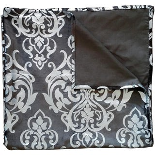 Embossed Brown Velvet Throw