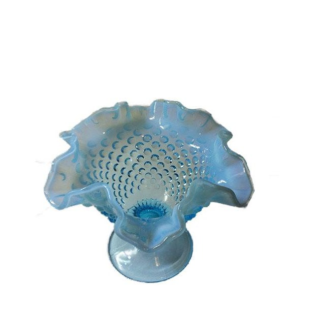 Image of Fenton Blue Opalescent Hobnailed Glass Bowl