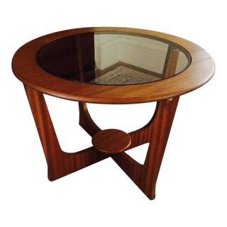 Mid-Century Cocktail Table With Glass Insert
