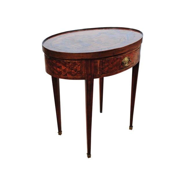 18th Century Oval Revolving Game Table - Image 1 of 10