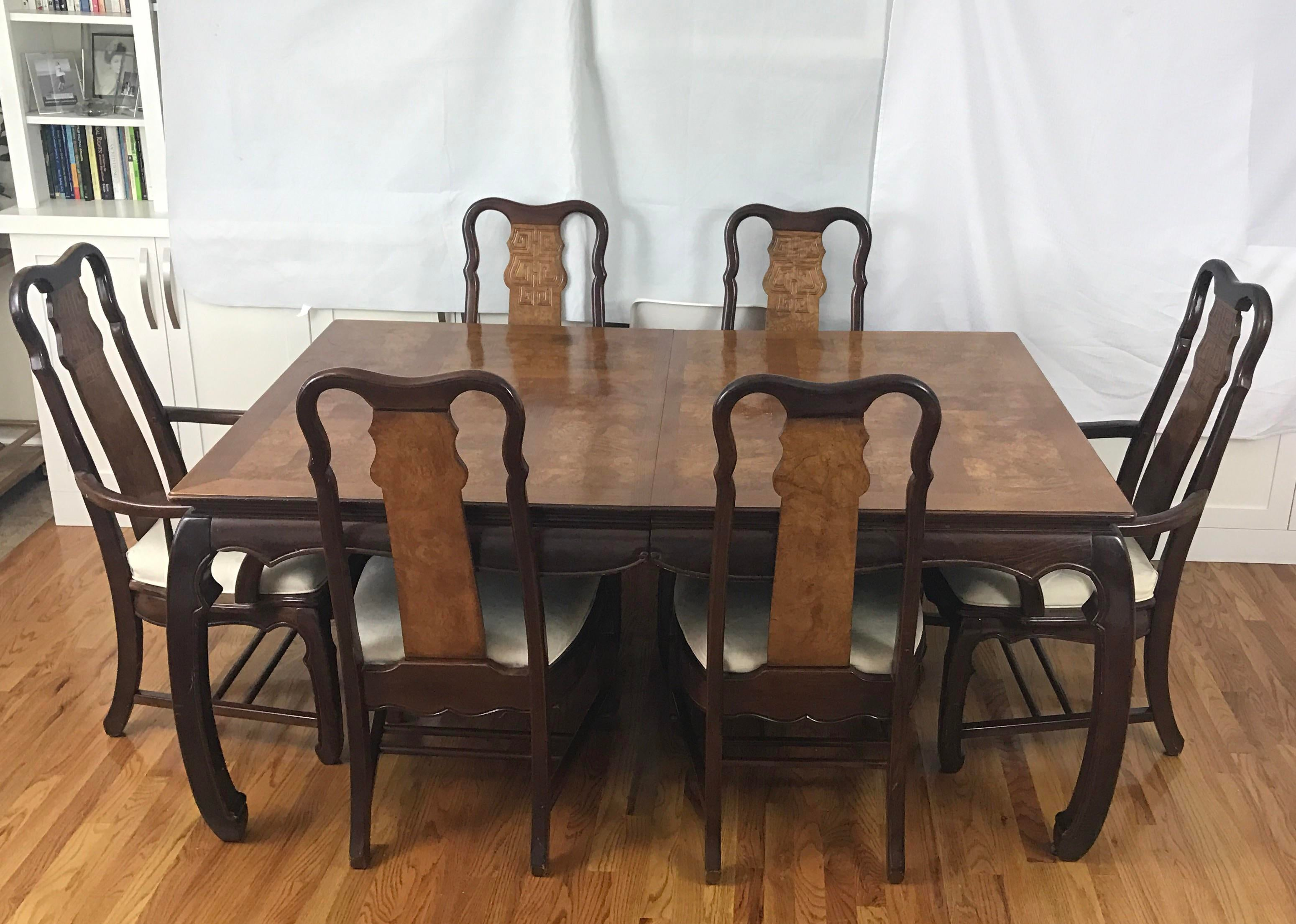 Chinese Chippendale Style Dining Table U0026 Six Chairs  7 Pieces   Image 2 Of  11