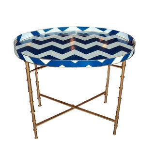 Bargello Navy Coffee Table