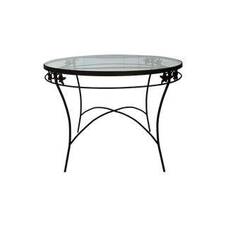 Mid-Century Iron & Glass Table