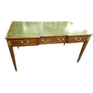 Rare Vintage Original Leather Top Partner / Writing Desk